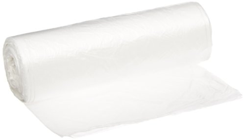 Inteplast Group EC2424N High-Density Can Liner, 24 x 24, 10gal, 5mic, Clear, 50 Per Roll (Case of 20 Rolls)