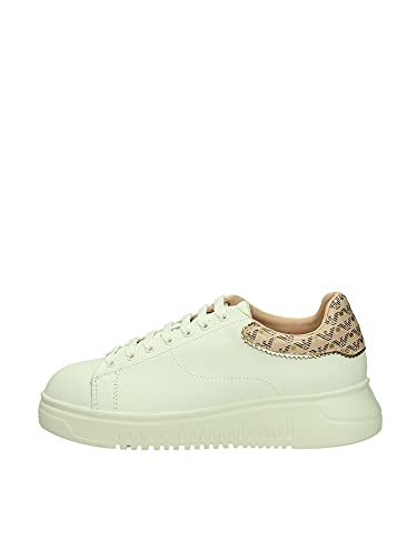 Emporio Armani Shoes Women X3X024 XM702 R922 White+Nuage/TDM+Gold (Numeric_38)