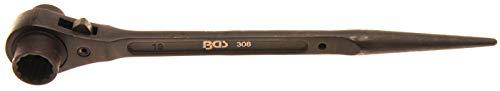 BGS 308 | Gerüstbauer-Knarre | SW 17 x 19 mm | CV-Stahl | Gerüstbauratsche | rechts / links umschaltbar