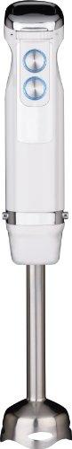 Gastroback 40974 Design Stabmixer Advanced, 10 Geschwindigkeitsstufen und Turbo-Funktionen, 800 Watt, inkl. Mixbehälter (800 ml) und Zerkleinerer (500 ml) mit Deckel, Schneebesen, Edelstahl, Weiß
