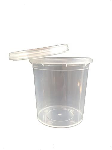 CPL Fabbrika. 10 Barattoli in Plastica Trasparente 120 ml con Tappo a Pressione. Nessuna quantità minima d'acquisto. Venduti in Confezioni da 10