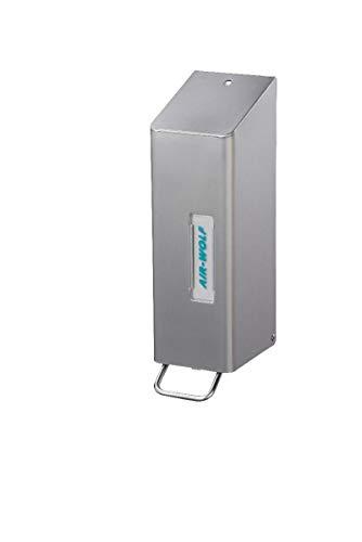 AIR-WOLF Seifen- und Desinfektionsmittelspender 1,2 Liter, Edelstahl beschichtet, Serie Omega