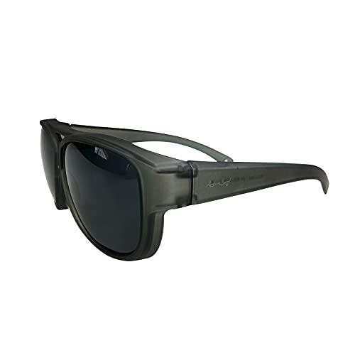 ActiveSol Design ÜBERZIEH-SONNENBRILLE | Flieger Brille - Pilotenbrille | Kategorie 4 - EXTRA DARK | UV400 Schutz | polarisiert | 24 Gramm