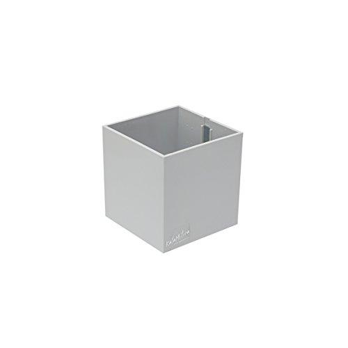 KalaMitica 60019-989-001 Récipient Magnétique Cube, Couleur Blanc Gris, Dimension 9,5 cm