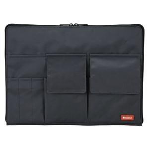 (業務用セット) リヒトラブ バッグ・イン・バッグ A4サイズ A-7554-24 黒 1個入 【×2セット】