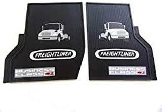 Freightliner Business Class M2 Black All-Weather Rubber Floor Mats OEM with Logo - Fits All Years M2