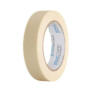 ENVO TAPE® 4700 Profi Malerkrepp 25 mm x 50 m, weiß, hitzebeständig Malerband Abklebeband Kreppband, 72 Rollen