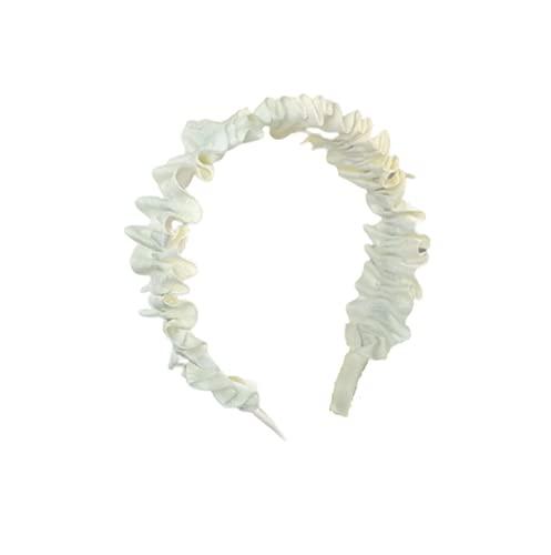 Diademas de Pelo Anchas Elástica Turbantes de Nudo Bandas Diadema para Niñas Mujeres Diademas de Pelo Anchas,Beige