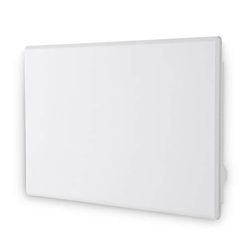 Adax Eco Basic - Convettore elettrico con termostato elettronico, altezza bassa: 330 mm, 600 W, bianco