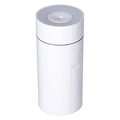 Umidificatore Piccolo, Umidificatori Portatili da 320 Ml Umidificatore D'aria Girevole Umidificatore da Tavolo USB Umidificatore a Nebbia Fredda Bianca, per Piante Cameretta per Auto da Ufficio