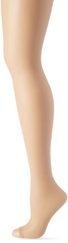 Hanes Silk Reflections Women's Lasting Sheer Control Top Toeless Pantyhose, Bisque, I/J