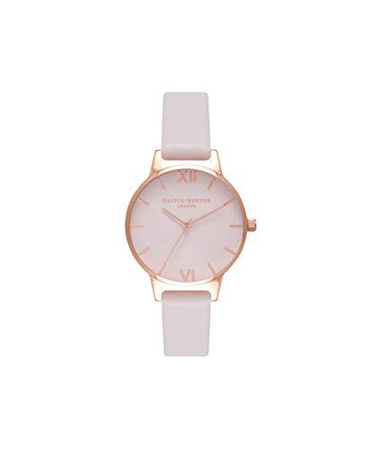 Olivia Burton Damen Analog Japanisch Quarz Uhr mit Echtes Leder Armband OB16MD82