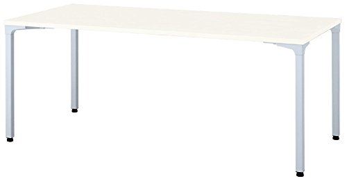 プラス ロンナ 会議テーブル 長方形 アジャスター脚 NN-1809PAR 天板ホワイト/脚シルバー