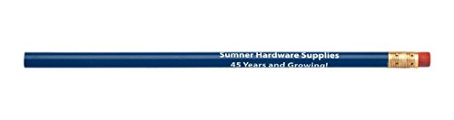 Pencil Guy Promotional Personalized Imprinted Round Pencils Medium Blue 144 to a box
