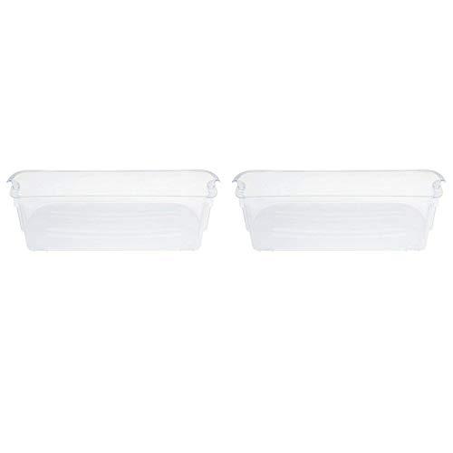Dasing 240356402 - Armadietto per frigorifero, 2 pezzi, colore: Trasparente