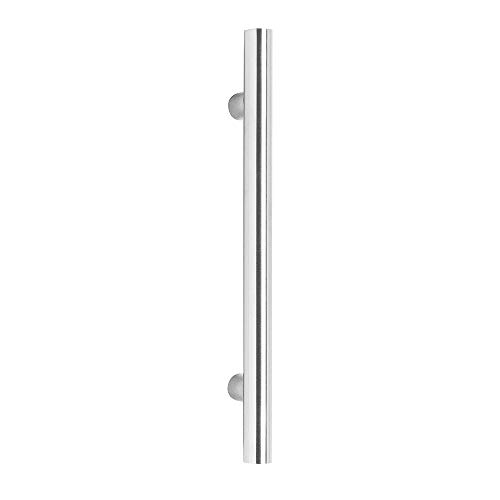 Preisvergleich Produktbild Stossgriff Türgriff T-Modell Edelstahl gebürstet ø 20 mm Lochabstand 200 mm