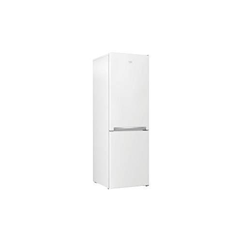 Beko France PL combinado 343 L (223 + 120) – Clayetas de cristal – Descongelación Auto – MinFrost – H 185,2 / L 59,5 – Blanco