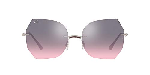 Ray-Ban 0RB8065 Gafas, AMARANTH ON SILVER, 62 Unisex Adulto