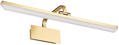 LED spiegel licht voor badkamer, wekker, make-up, licht eenvoudig en modern, energiebesparend, Rollsnownow (kleur: warm wit licht, maat: 40 cm, 9 W)