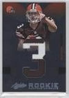 Brandon Weeden #13/25 (Football Card) 2012 Absolute - Rookie Premiere Materials - Jumbo Jersey Number Prime #205