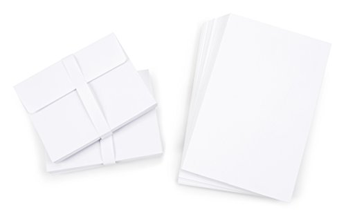 Darice 1103-69 Blank Cards and Envelopes - White - 4.25' x 5.5' - 50 pcs - Value Pack