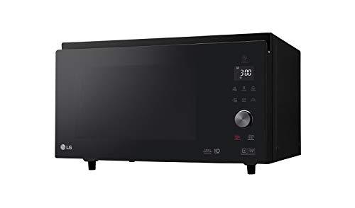 LG MJ3965BPS Horno Microondas Grill Smart Inverter Microondas 1100 W, Grill 950 W, Convección 1850 W, 39 L, Display LED, Plato Crispy, Plato interior 360 mm, Negro, 54.4 x 32.7 x 52.5 cm