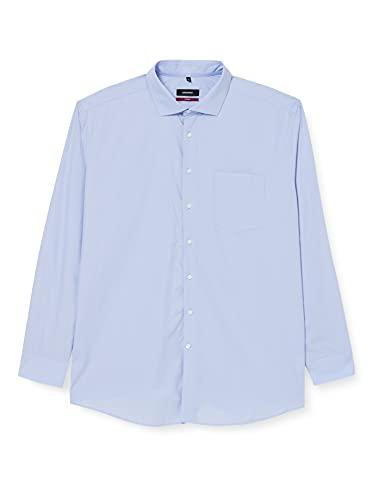 Seidensticker Seidensticker Herren Modern Langarm mit Kent Kragen Soft Gepunktet Businesshemd, Blau (Blau 11), 42