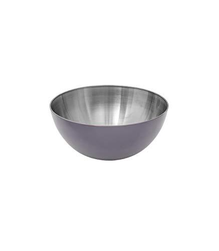 Secret de Gourmet - Saladier gris en inox 13 cm