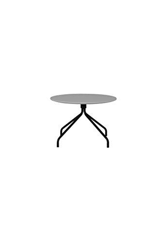 Tenzo 3752-012 Lola Designer Table Basse, Gris/Noir, Plateau en Panneaux MDF ép. 19 mm laqués, 40 x Ø 60 cm (HxLxP)