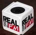Custom printed cube mic flag by PRC