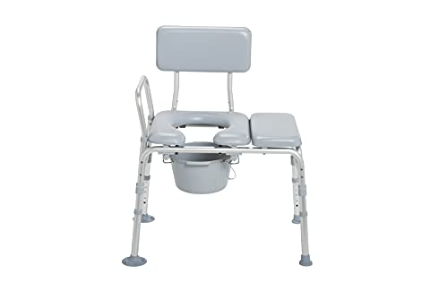 Drive Medical 12005KDC-1 Transfer Bench Commode Chair...