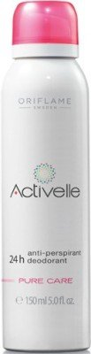 Oriflame Sweden Activelle - Desodorante antitranspirante 24h Deopure Care Roll-on para niñas, mujeres (150 ml)