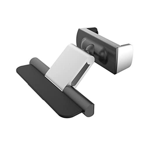 ASDFGHJK KANGYEBAIHUODIAN Soporte para teléfono del automóvil FIT FOR CO CD Slot Stain Stand Fit para iPhone 12 11 x Pro MAX Samsung Metal Cell Teléfono móvil (Color : Silver)