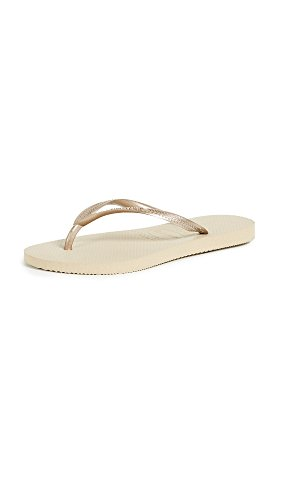 Havaianas Women's Slim Sandal,Sand Grey/Light Golden,35/36 BR (6 M US)