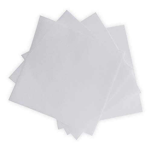 50x ungefalztes einfaches Einlege-Papier für quadratische Karten - transparent-weiß - 14 x 14 cm - Bedruckbar mit Laser - hochwertig mattes Papier von NEUSER®