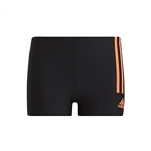 adidas Unisex Baby Yb 3s Brief Badehose, schwarz/orange, 9 años