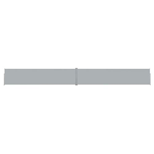 UnfadeMemory Ausziehbare Seitenmarkise Terrassenmarkise Windschutz Wasserdicht Sonnenschutz für Garten und Terrasse (170x1200 cm, Anthrazit)