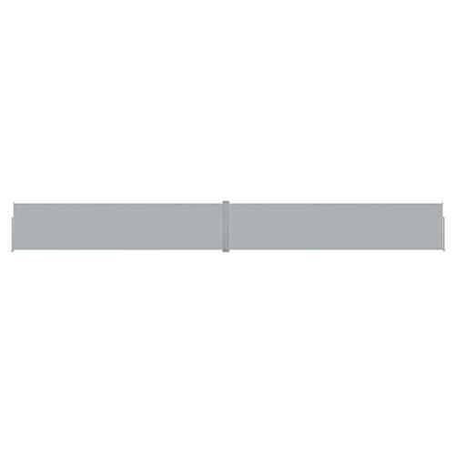 vidaXL Toldo Lateral Retráctil para Patio Separador Terraza Balcón Pantalla Solar Viento Función Retroceso Automático Gris Antracita 170x1200 cm