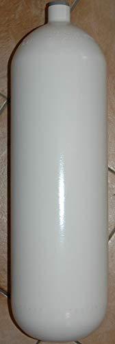 HTD Botella de acero de 5 litros, 200 bar, 114 mm de diámetro, sin válvula