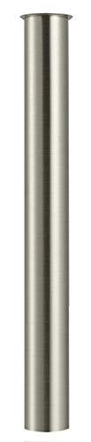 Messing Tauchrohr 300mm für Siphon, Keymark Verlängerung Rohr 32mm Abfluss, Verstellrohr Geruchsverschluss Flaschensiphon, Gebürstete Nickel
