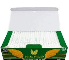 Golden Harvest Cigarette Filter Tubes Menthol-100mm 200 tubes /Box 1000 tubes/5 Boxes 5 Boxes/Sleeve