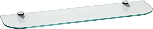 IB-Style - Wandregal - Glasregal | 88 Variationen | 600 x 300 x 6 mm klar + Halterungen Classico Weiß