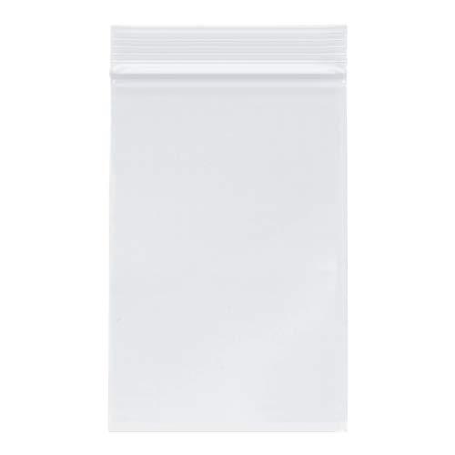Plymor Zipper Reclosable Plastic Bags, 2 Mil, 4
