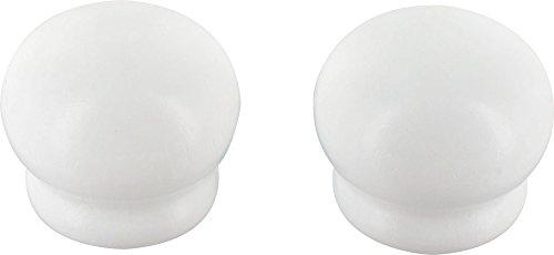 ATELIERS 28 Embout Pomme Blanc - Diamètre 28 mm - Vendu par 2