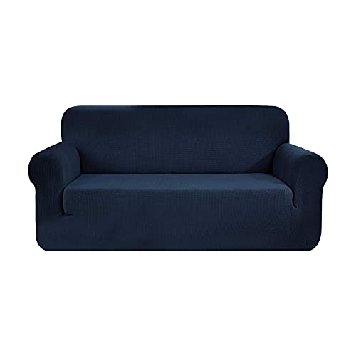 LOVEAI Protectores de sofá Impermeables 2 plazas de Mascotas/Perros Fundas de sofá Funda de Asiento de Amor Fundas Azul, 57-72 Pulgadas