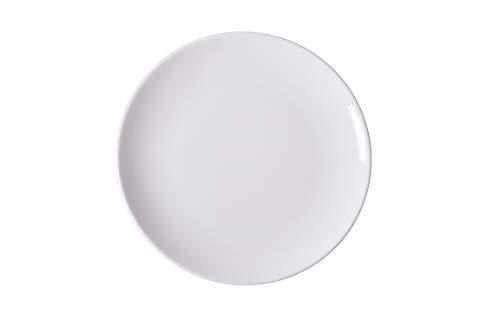 Ariane - Fine Porcelain Porcelain Plate - Pack of 6, Ivory White