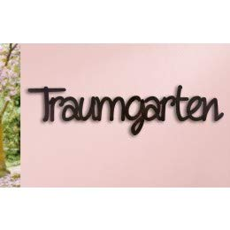 Wandrelief Wandbild Schriftzug 'Traumgarten' - Gilde Handwerk