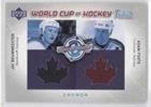 Adam Foote; Jay Bouwmeester (Hockey Card) 2004-05 Upper Deck - World Cup of Hockey Tribute #WC-JB/AF