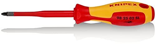 KNIPEX Tournevis (Slim) pour vis à tête cruciforme Pozidriv Isolées pour 1 000 V (212 mm) 98 25 02 SL