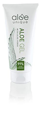 Aloe Gel mit Aloe Ferox (reichhaltiger als Aloe Vera) - Natürliche Hautpflege für Gesicht & Körper - Vegan, Parfüm- & Parabenfrei, ohne Tierversuche, 100% natürlicher Wildwuchs - 75ml